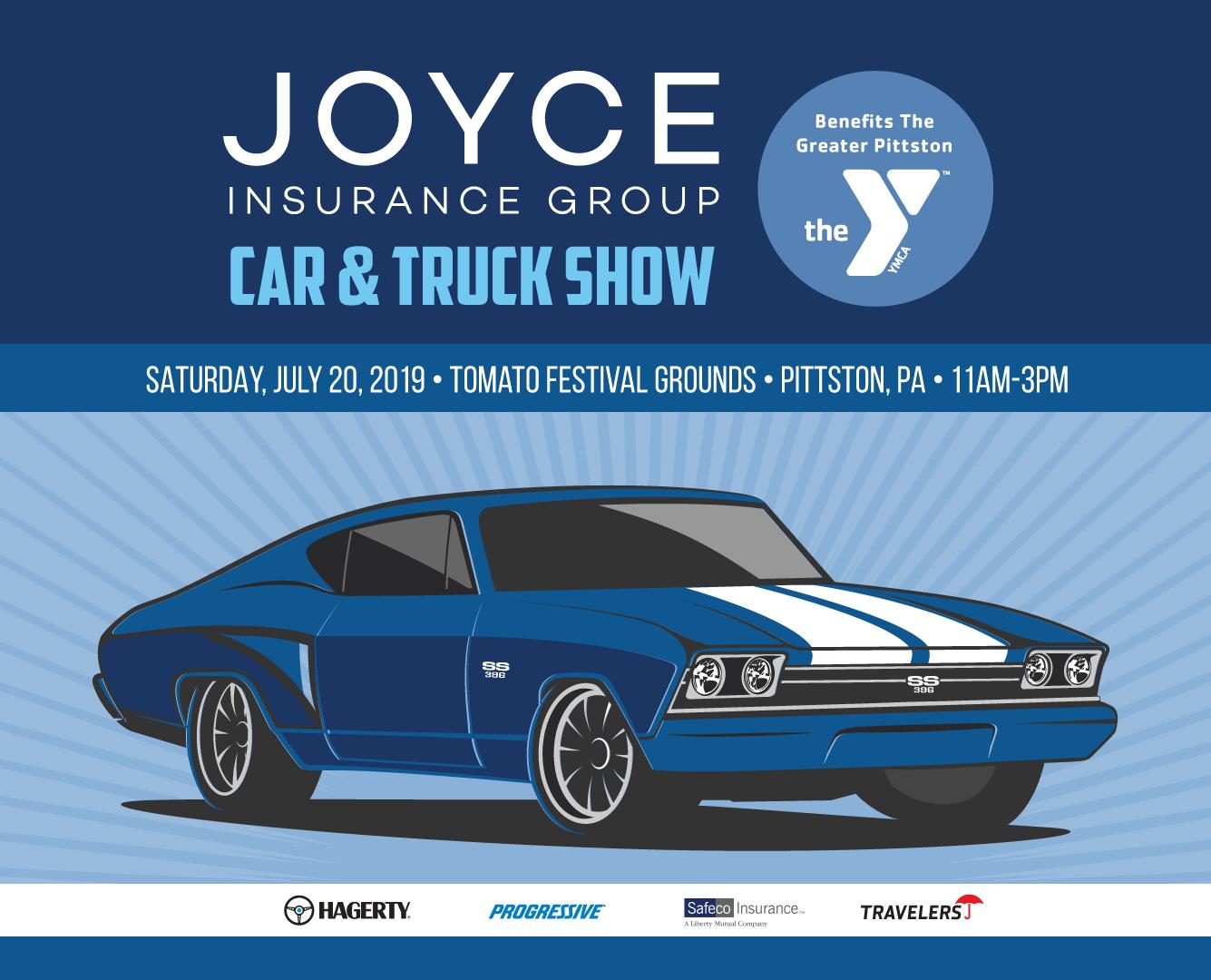 Joyce Insurance Car Truck Show July 20 2019 Pittston Ymca